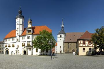 Marktplatz in Eisenberg / Thüringen