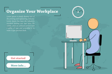 Banner template - Organize Workplace