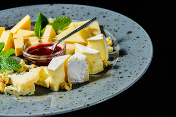 French cheese with raspberry jam