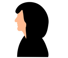 vector isolated silhouette portrait of a woman