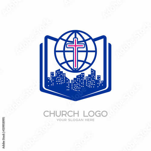 Church Logo Christian Symbols Cross Of The Lord And Savior Jesus