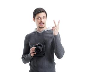 successful professional photographer use DSLR digital camera iso