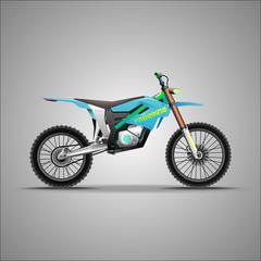 Eco, extreme motorcycle. E-bike.