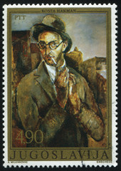 self-portrait of Yugoslavian artist Kosta Hakman