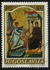 medievel icon Annunciation