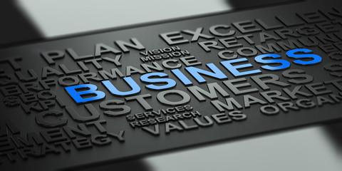 Wall Mural - Business Words Background for Communication