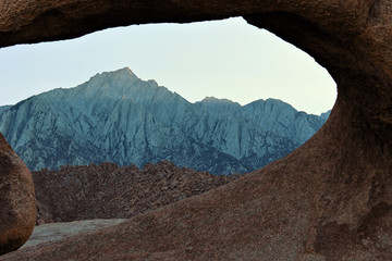 Mobius Arch in Alabama Hills, Sierra Nevada, California, USA