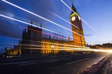 Big Ben London night slow motion
