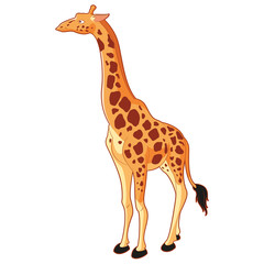 Giraffe cartoon style
