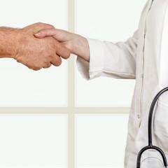 Doctor welcomes patient