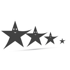 funny icons stars with smiles in black. Vector illustration EPS 10