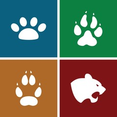 Set of 4 cat filled icons