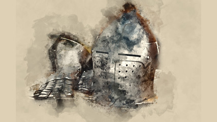 Knight's helmet medieval battle tournament history