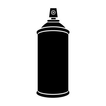 silhouette aerosol spray bottle can icon vector illustration