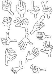 Fotobehang Babykamer Hand variations