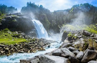Fototapeta Krimmler Wasserfaelle, National Park Hohe Tauern, Salzburg, Austria