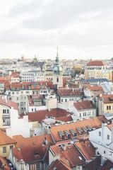 Building exteriors and rooftops, Prague, Czech Republic, Europe