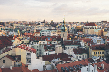 Building exteriors and rooftops, Prague, Czech Republic, Europe