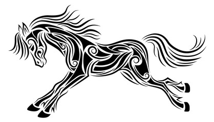 galloping horse tattoo