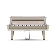 Vector flat illustration of Grand Piano musical instrument.