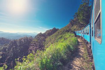 Train from Ella in Nuwara Eliya in Sri Lanka island.