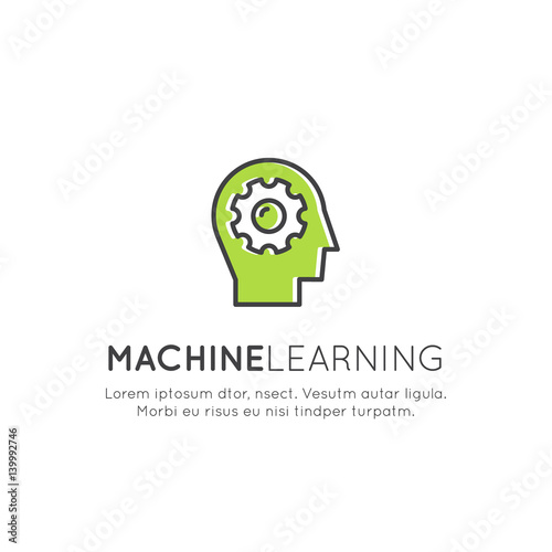 """Vector Icon Style Illustration Concept of Machine ..."