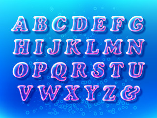 Air bubble font