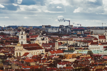 Vilnius, Lithuania. Panoramic view from Three Crosses hill