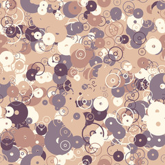 Abstract background with set of multi-colored circles.