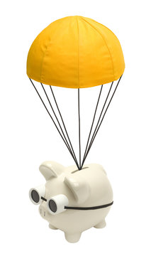 Pig with Gold Parachute