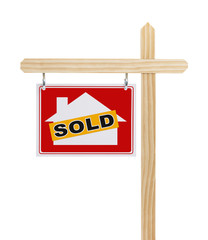 Red Sold Real Estate Sign