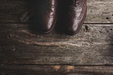 Men's leather vintage shoes.