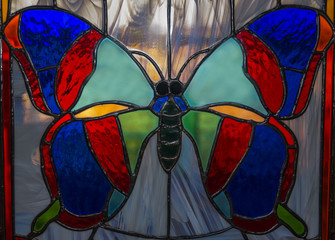 stained glass - a butterfly 1