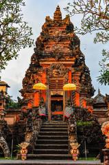 Sunset colors in Saraswati Temple in Ubud, Bali