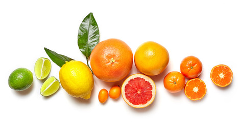 Photo sur Aluminium Fruit various citrus fruits