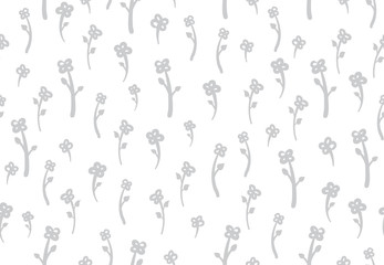 Flowers vector Pattern with bright spring colours