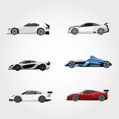 Papiers peints Cartoon voitures Sport Car Design Vector