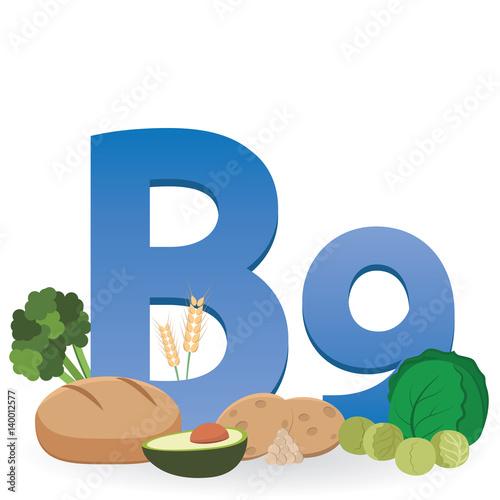 """""""Foods Rich In Vitamin B9"""" Imágenes De Archivo Y Vectores"""
