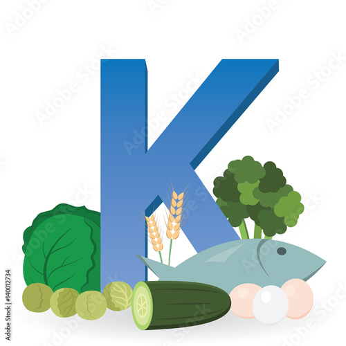 """""""Foods Rich In Vitamin K"""" Stock Image And Royalty-free"""