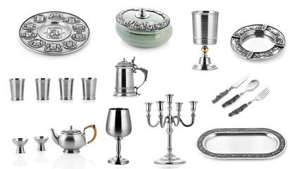 Set of silver ware, silver cutlery