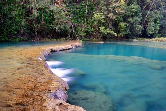 Semuc champey guatemala waterfall cascade