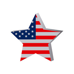 star independece day flag icon, vector illustraction design