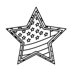 figure star independece day flag icon, vector illustraction design