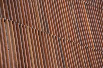 natural wood lath wall