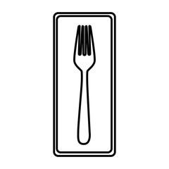 fork picture decorative icon, vector illustraction design