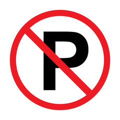 no parking sign isolated vector