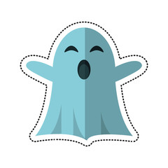 cartoon ghost april fools day vector illustration eps 10