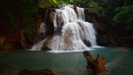 Wall Mural - Huay Mae Kamin waterfall in summer, Kanchanaburi, Thailand