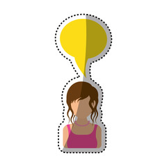 Women faceless profile icon icon vector illustration graphic design