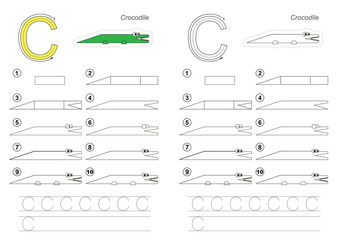Drawing tutorial for letter.
